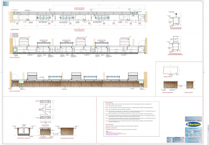 Servery counter plan